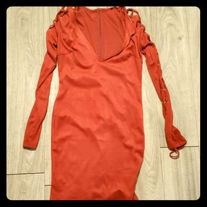Burnt orange Party dress w tags